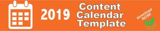 Content Calendar Template 2019 Strategy Download