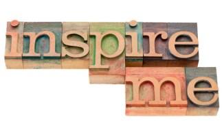 inspire me in letterpress type