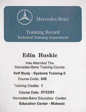 Certification European Car Service Experts Bmw