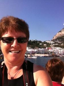 Capri behind me!