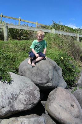 If there's rocks....Christian has to climb them