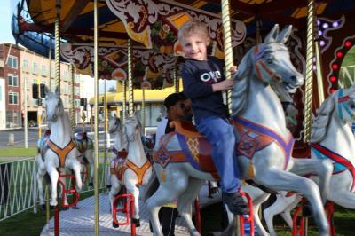 Christian on the merry go round! A celebration for being such a good boy :-)