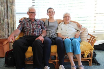Joanna with her Nana and Grandad :-)