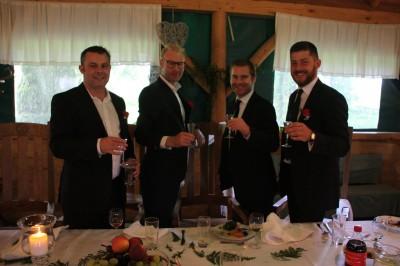 Cheers! Vodka shots!