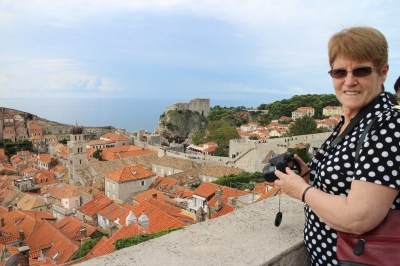Judy enjoying the day at Dubrovnik