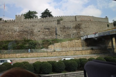 Our view of the fortress from the bus window