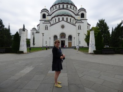 Me standing outside the Marble Church