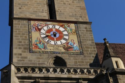 The lovely clock on the church