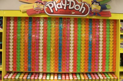 Just a small portion of the Play-Doh display
