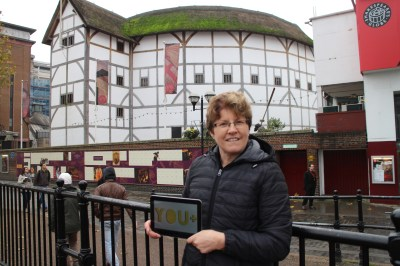 Outside The Shakespeare Globe Theater