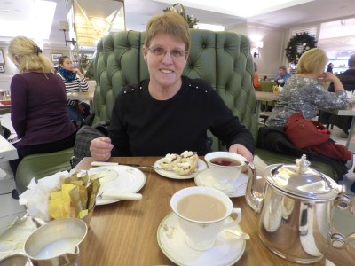 Judy with her scones and clotted cream