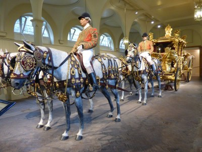 The set up for the Gold Carriage
