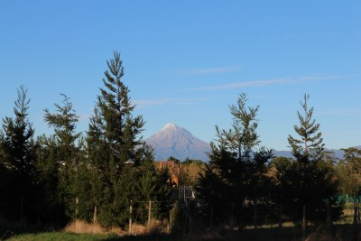 And this is the view of the Mountain from just across the road from our house.