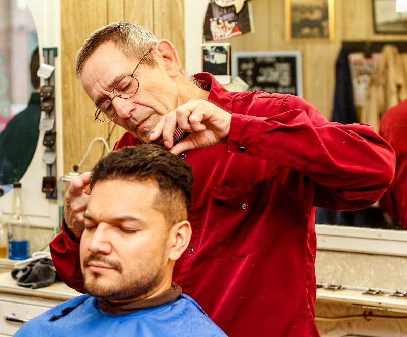 'Barbering hasn't changed much [over the years],' said Reedy. 'Same books, different editions.'
