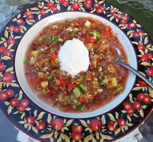 Gazpacho with Plain Yogurt