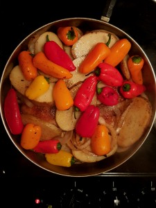 Plenty of vegetables sautéed in broth