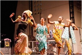A performance at Alliance francaise in Ghana