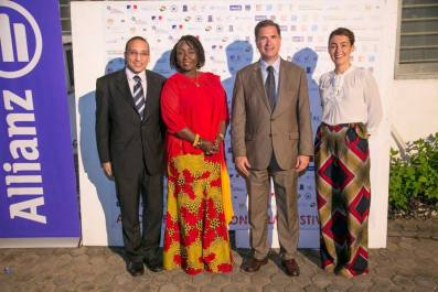 H.E. M. Mohamed Mostafa Heider Ambassador of Egypt; Dzifa Gomashie Deputy Minister for TourismCulture_creative Arts; H.E Frederic Clavier