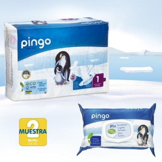 pack descubrimiento de pañales Pingo talla 1