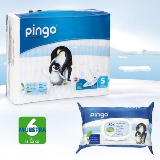 pack descubrimiento de pañales Pingo talla 5