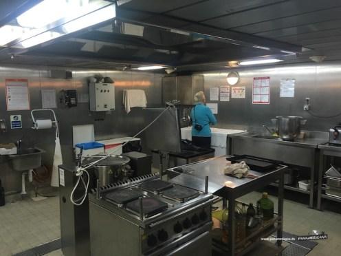 Küche an Bord