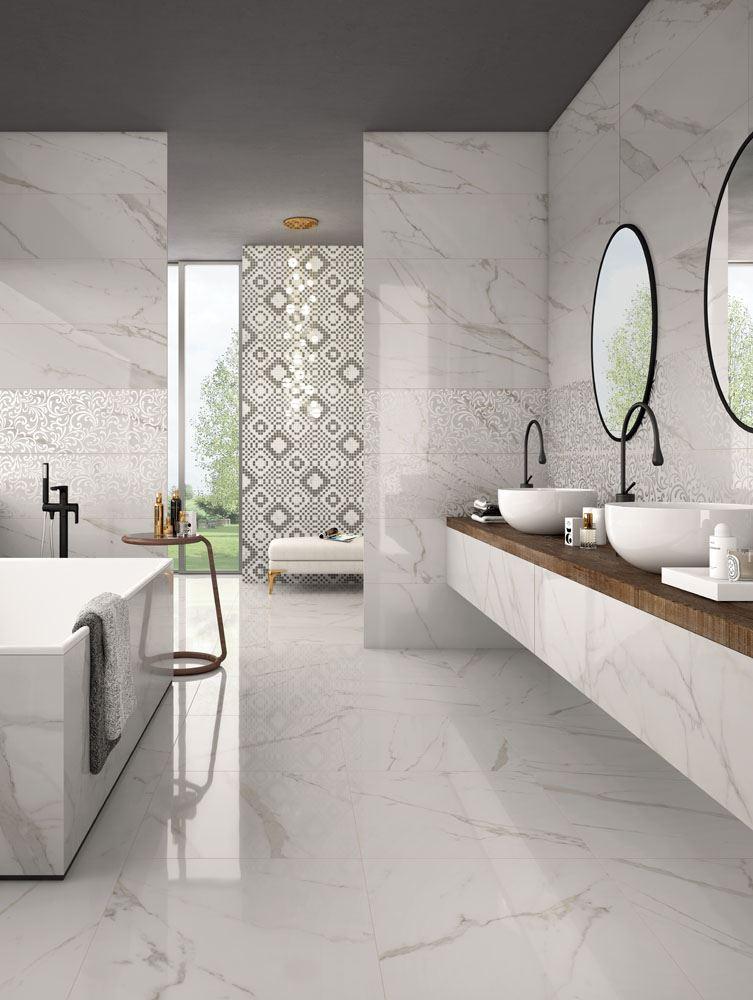 Crema Marfil Bathroom Marble Texture