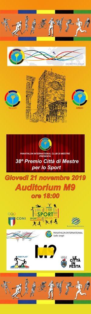 38° Premio Città di Mestre per lo Sport