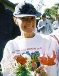 Marisa Harris after running a race