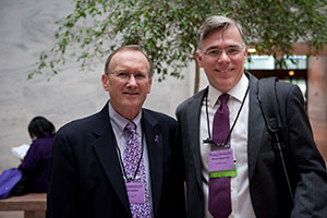 Goggins_AD2013: Dr. Goggins (right) with Jim Teesdale, Chair of the Baltimore Affiliate, at Advocacy Day 2013 in Washington, D.C.