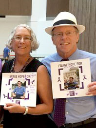 Dennis and Yvonne Noesen at Advocacy Day 2015, honoring their late son, Tyler, and advocating for patients currently fighting.