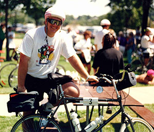 Doug participating in The Ride Across Minnesota (TRAM) for the National Multiple Sclerosis Society.