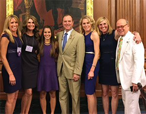 Dianne and her sisters spend time with Rep. Adam Schiff of California during Advocacy Day 2015.