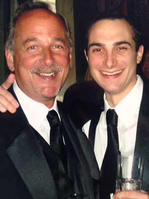Ethan Blum with his role model and best man — his dad, Jeff.