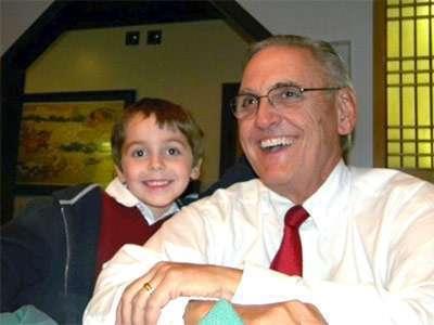 "Jackson and his late grandfather, John ""Denny"" Carnaghi."