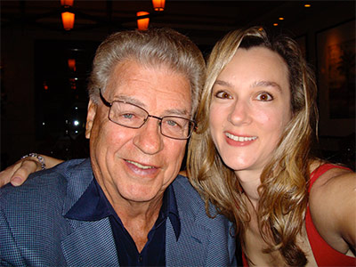 Cydney Daly with her hero and inspiration - her dad, Chuck Daly.
