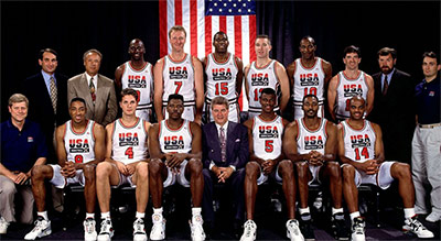 "Chuck led the 1992 Olympic ""Dream Team"" to victory in Barcelona, Spain. (Photo courtesy of Foxsports.com)"
