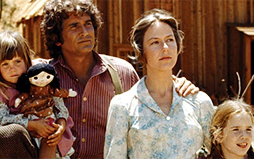 Ingalls Family on Little House on the Prairie with michael Landon