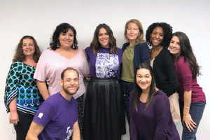 Erin Willet with PanCAN staff