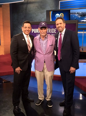 Juan Fernandez of KCAL-TV, Larry Clark and Dr. Nicholas Nissen