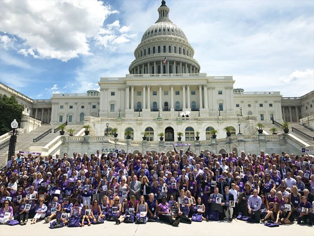 Over 650 supporters from all 50 states gather on the U.S. Capitol steps for National Pancreatic Cancer Advocacy Day