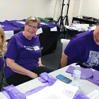 Jill, Diane and Andrew at packet pickup.