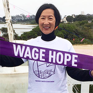 Cathy at PurpleStride San Francisco 2015