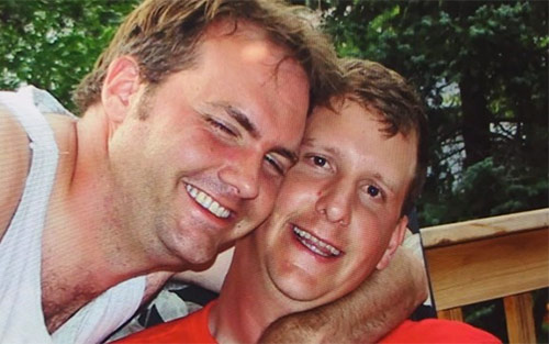 Hans Johnson with best friend Todd Hansen who was diagnosed with the disease four months before him and died in December 2015