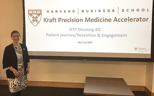 Pancreatic Cancer Action Network Vice President Jenny Isaacson speaks at Harvard Business School precision medicine initiative