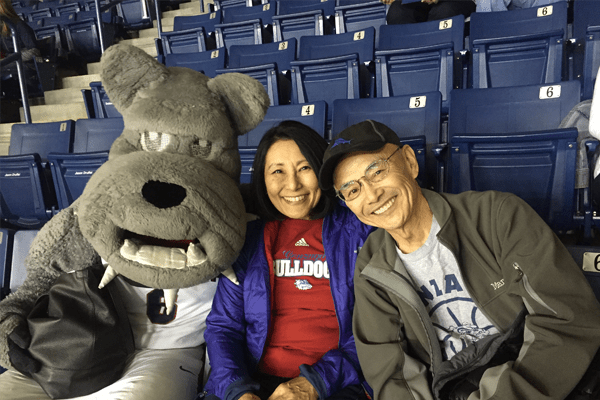 Dorothy and Joe Yamamoto, pancreatic cancer at a Gonzaga ballgame