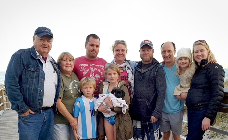 A pancreatic cancer survivor goes on a family vacation