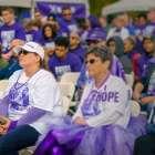 17-year pancreatic cancer survivor at PurpleStride 5K walk