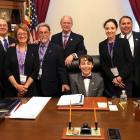 Teen pancreatic cancer advocate sits in U.S. Congress member's office during Advocacy Day