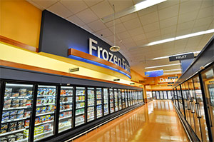 Check the nutrition labels of frozen foods in the grocery store, which can be high in sodium.