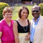 Mother and father with their adult daughter just months before his pancreatic cancer diagnosis.